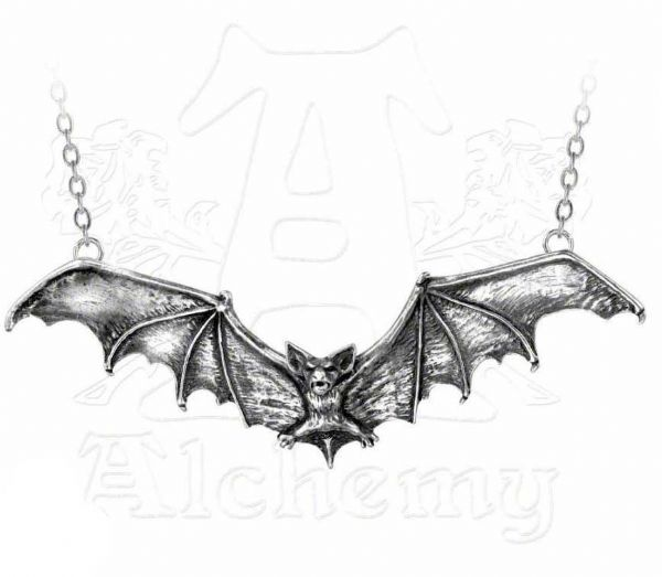 ALCHEMY GOTHIC Darkling Bat Necklace